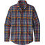 Patagonia Pima overhemd en blouse lange mouwen Heren blauw/bont